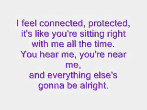 Connected-Sara Paxton (lyrics)