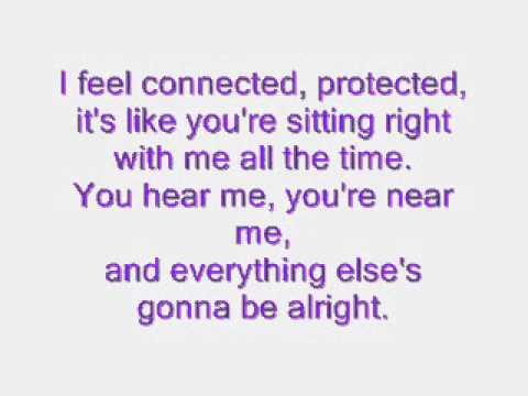 Connected-Sara Paxton (lyrics)