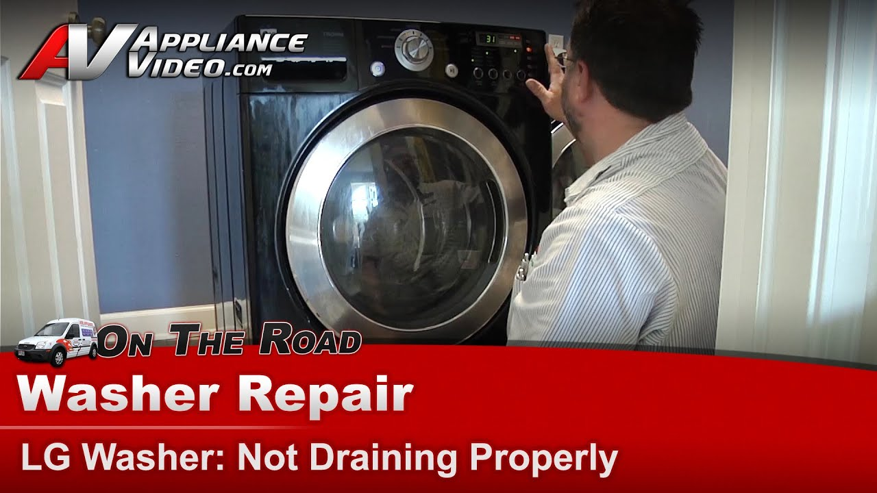 Lg Washer Repair  U0026 Diagnostic - Not Draining Or Pumping Out Water