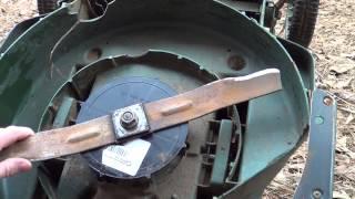 Black Decker electric mower blade fan hub parts replacement