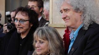 Brian May, Tony Iommi and Suzi Quatro unveil plaque in memory of drumming legend Cozy Powell.