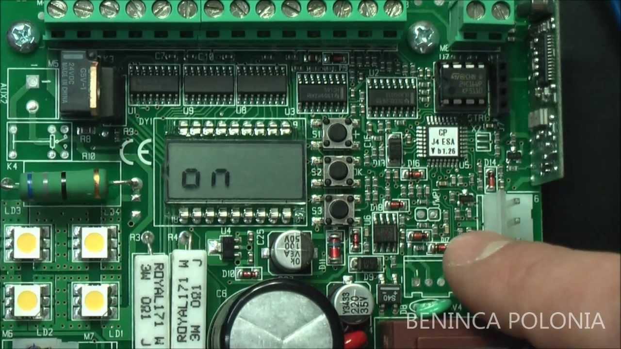 And Gate Wiring Diagram Beninca Funkcja Esa Youtube