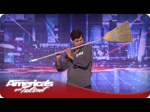 Michael Nejad Makes Music with a Broom and Dustpan  Americas Got Talent Season 7 Audition