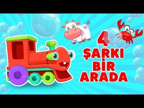 Kırmızı Tren Şarkıları 🚂   4 Bölüm Bir Arada - Türkçe Bebek Şarkısı - Kırmızı Tren