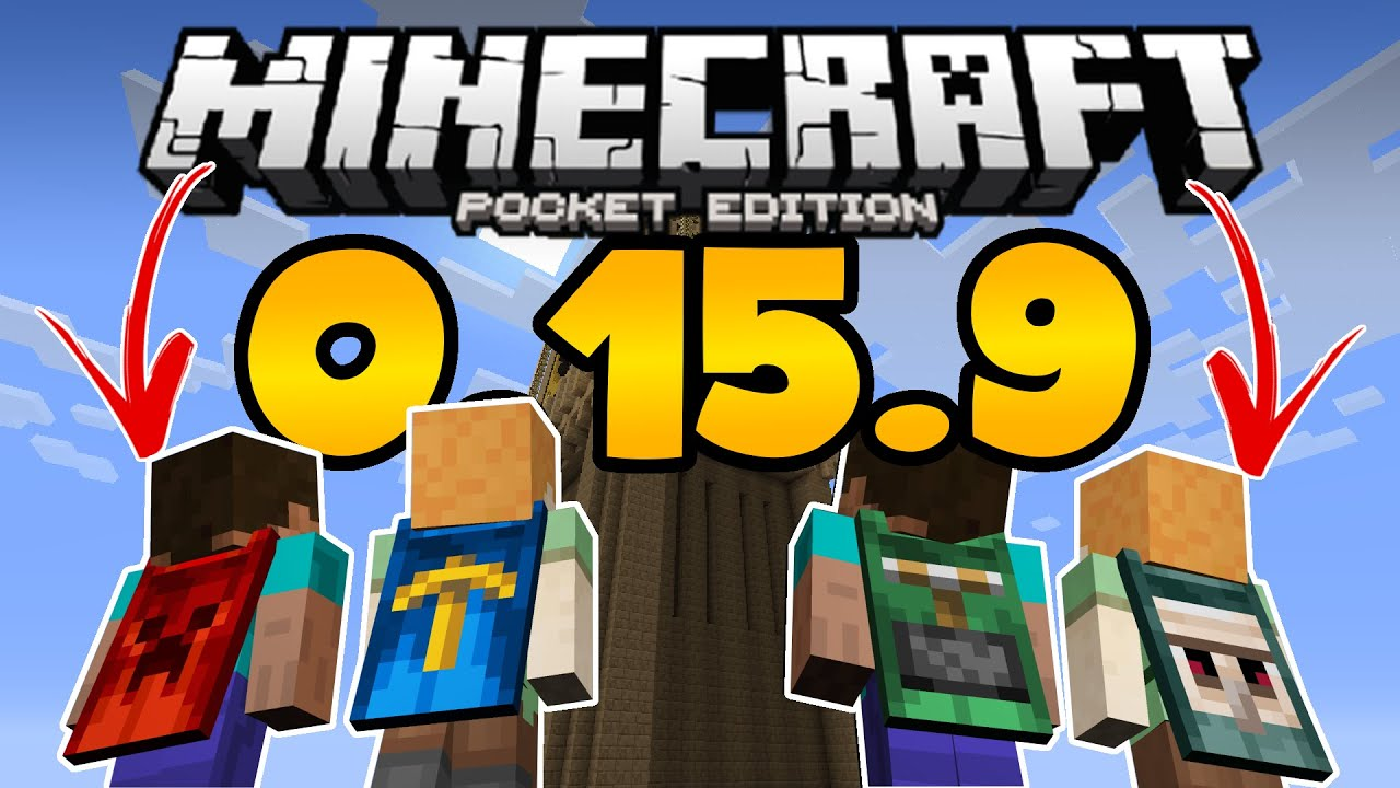 NEW MCPE 0.15.9 UPDATE! - FREE CAPES ADDED to MCPE ...