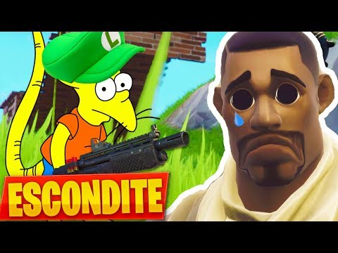 JUGANDO al ESCONDITE con un niño *HACKER* en FORTNITE