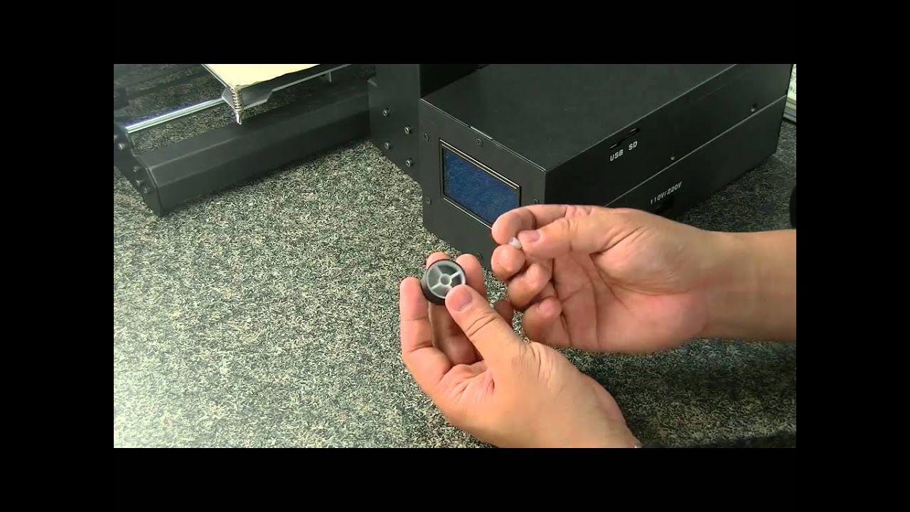 How to fix  the Wanhao Duplicator i3 twist and push button can't popup?