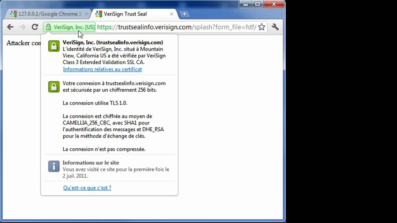 Google Chrome 14 Url Ssl Tls Spoofing Youtube