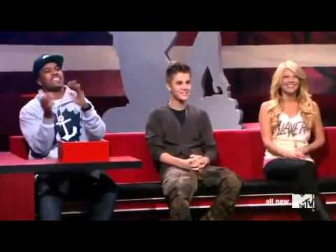 Justin Bieber speaking and singing in french