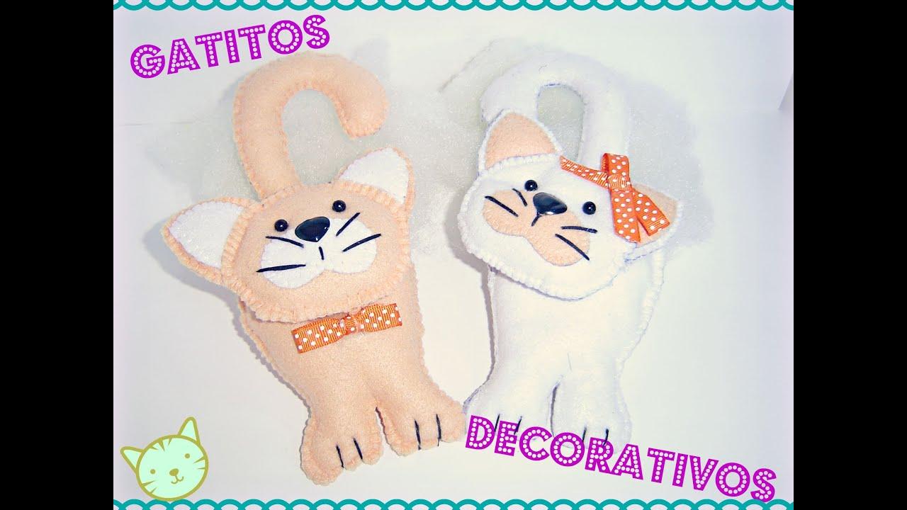 Como hacer gatos de peluche en fieltro ♥ DIY: ¡Haslo tu mismo ...