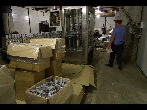 В Брянской области пресечена деятельность нелегального цеха по производству контрафактного алкоголя