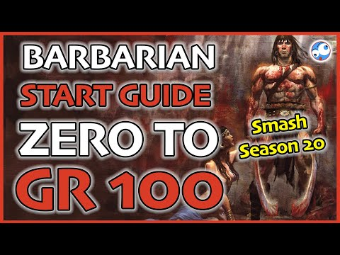 Season 20 Barbarian Starter Guide Level 1 To Gr100 Patch 2 6 8 Ik Hota Ww And Savage Set Youtube