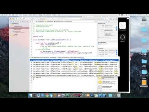 iOS table view transparent cell
