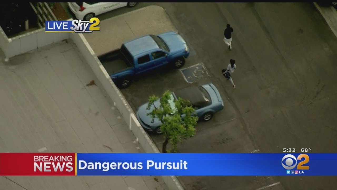 2 Stolen Car Suspects Tried to Flee On Foot Following A Wild Chase