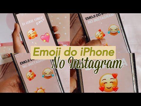 COMO COLOCAR EMOJI DO IPHONE NO INSTAGRAM PELO ANDROID/ 2019