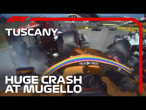 Dramatic Multi-Car Crash At Mugello | 2020 Tuscan Grand Prix