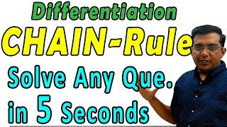 Differentiation   Solve Any Que. in 5 Seconds   Class 12 CBSE NCERT Maths in Hindi   Lecture 5