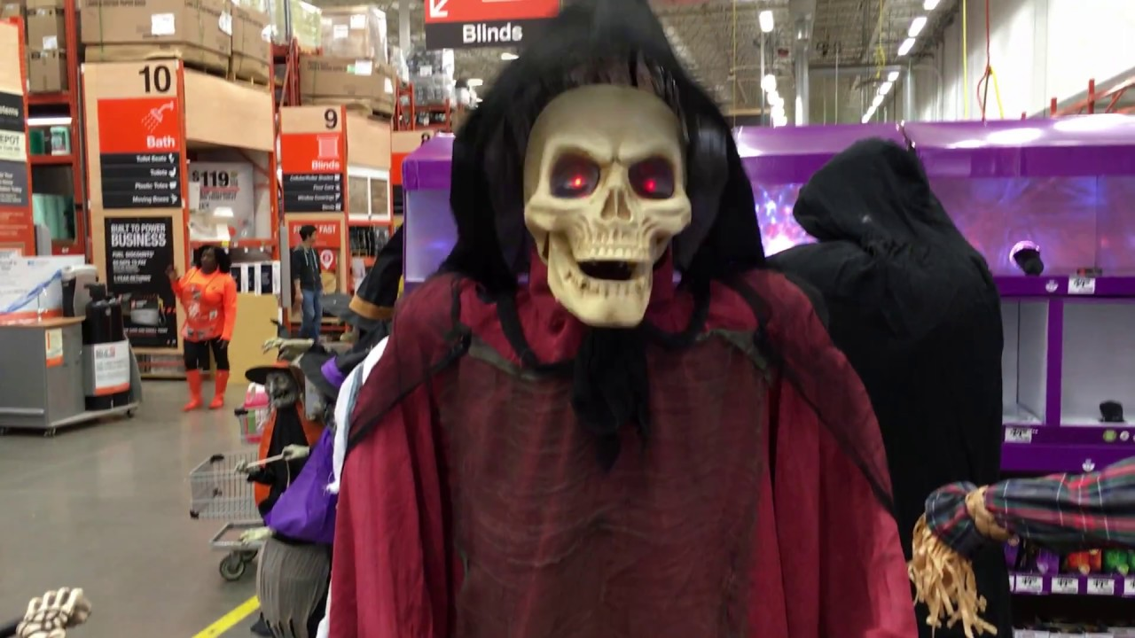 Home Depot Halloween 2017 Hooded Reaper with Lantern - YouTube