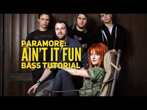 """Bass Lesson : Learn how to play """"Ain't It Fun"""" by Paramore (L#6)"""