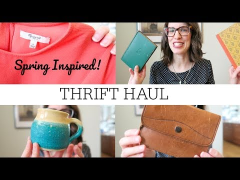 Spring Inspired Thrift Haul | Local Thrift Store and Goodwill NYC