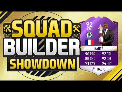 FIFA 17 SQUAD BUILDER SHOWDOWN!!! PLAYER OF THE YEAR KANTE!!! POTY Ngolo Kante Squad Duel