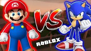 Mario Vs Sonic in Jailbreak [Roblox Edition]