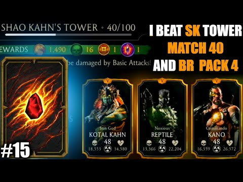 MK Mobile From Zero. #15. Opening BR Pack 4 and Winning Match 40 of SK Tower.