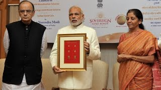 PM Modi at the launch of Gold related schemes