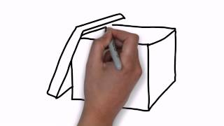 How To Draw An Open Brown Box