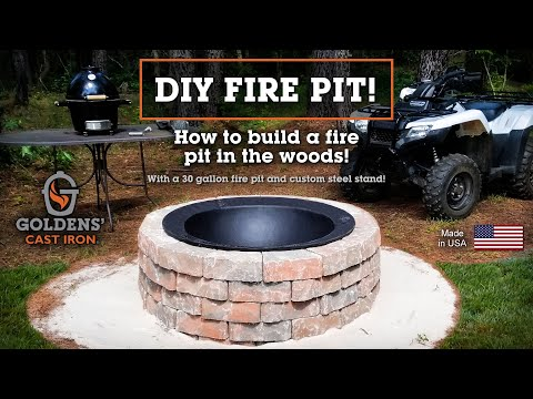 (DIY Fire Pit!) How to Build a stone fire pit quick and easy in your backyard!