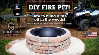 How to Build a Fire Pit with Decorative Stones! - DIY - Goldens' Cast Iron