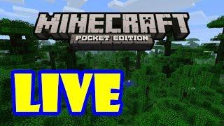 Minecraft: Pocket Edition - LIVE EXPLORING #4