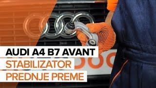 Vgradnja Šipka stabilizatorja AUDI A4 Avant (8ED, B7): brezplačen video