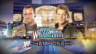 CM Punk vs Chris Jericho Wrestlemania 28 Official Promo - Best In The World Match