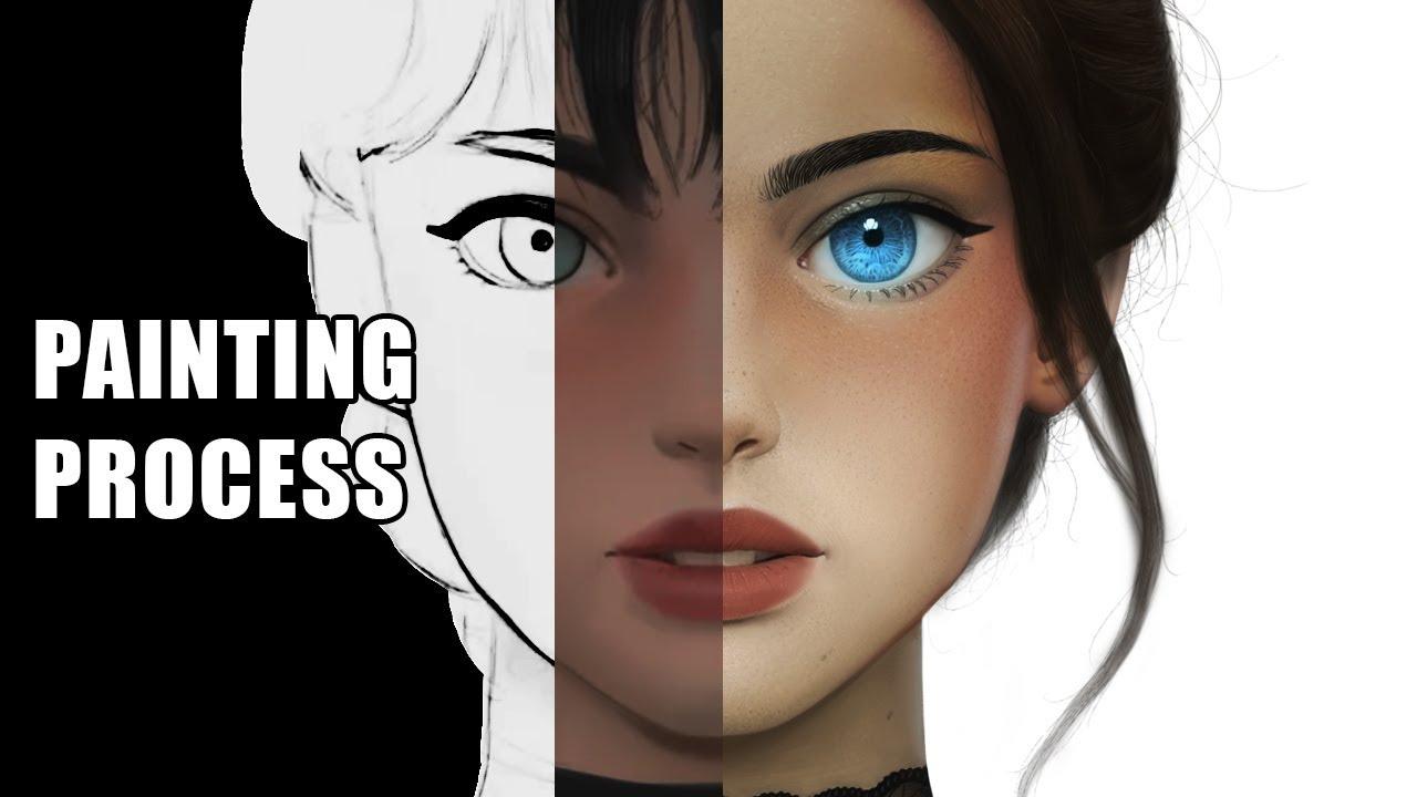 Drawing Semi-Realistic Manga Character | Photoshop ...