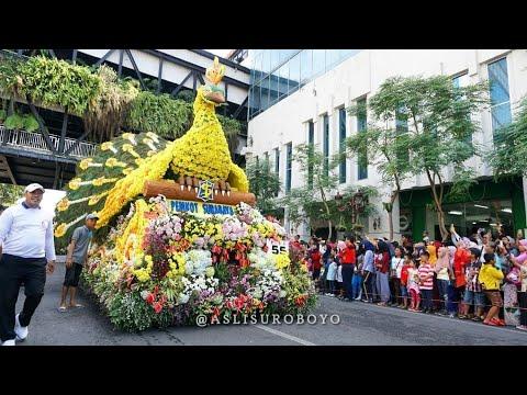 Parade budaya & pawai bunga 2018 (Surabaya Vaganza) rangkaian acara HUT #Suroboyo725