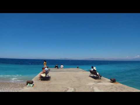 Kanari beach of Rhodes Town is in front of: Horizon Resort, Agla Hotel, Semiramis City Hotel ...