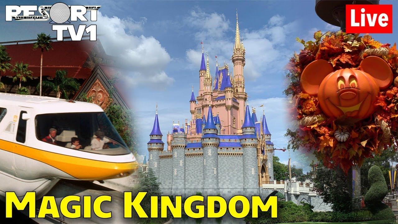 🔴Live: An Evening of Magic Kingdom Fall Fun & Monorail Resort Hopping in 1080p - Walt Disney World