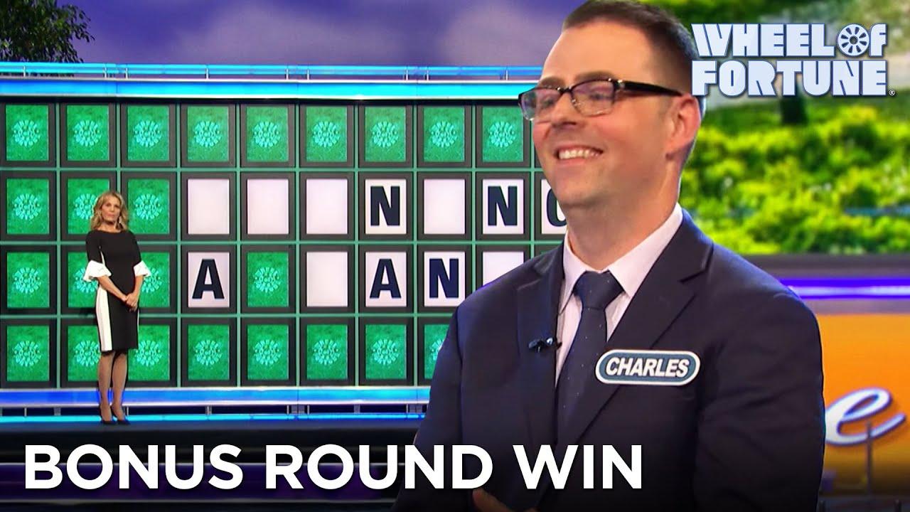 Charles Wins $38,000 in the Bonus Round (1/22/21) | Wheel of Fortune