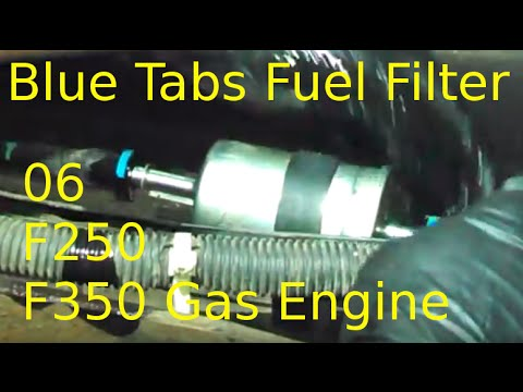 Fuel filter replacement 2006 Ford F250 F350 54L Gas Install your