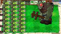 Plants vs Zombies Balttez - Gatling Pea vs 999 Football Zombie vs Zomboss