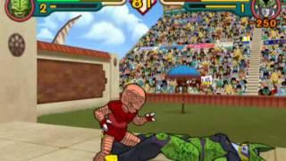 Dragon Ball Z BUdokai 2: Saibaman (red) vs Majin Cell