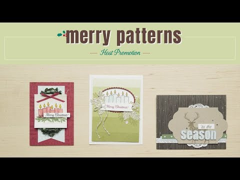 Merry Patterns Host Set by Stampin' Up!