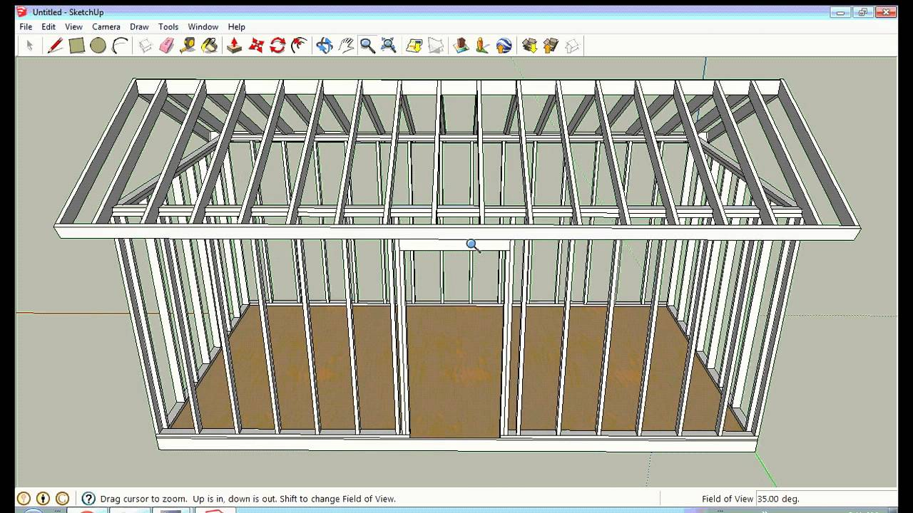 Sketchup Framing Lesson By Solarcabin Youtube