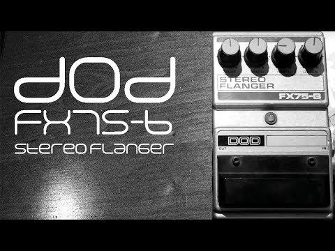 DOD FX75-B Flanger Demo