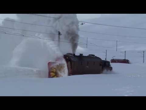 Qar Təmizləyən Qatar.Rotary Snow Blower Train