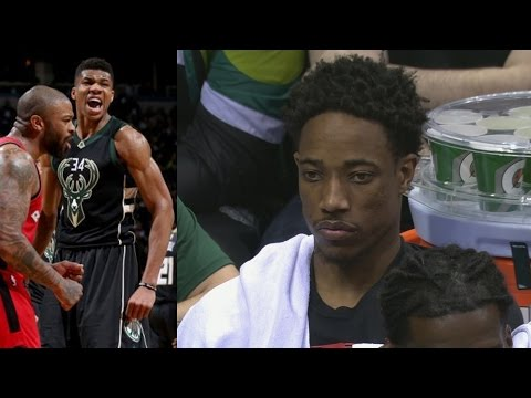 DeMar DeRozan Choked 8 Pts! Greek Freak Block With Elbow! Raptors Bucks Game 3
