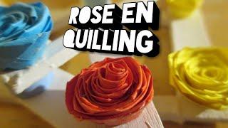 [TUTO QUILLING] Faire une rose en quilling -FRANCAIS -
