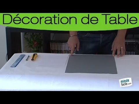 comment faire un set de table pop up youtube. Black Bedroom Furniture Sets. Home Design Ideas