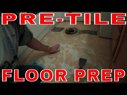 How to remove vinyl floor and tile a small bathroom - DIY Tile